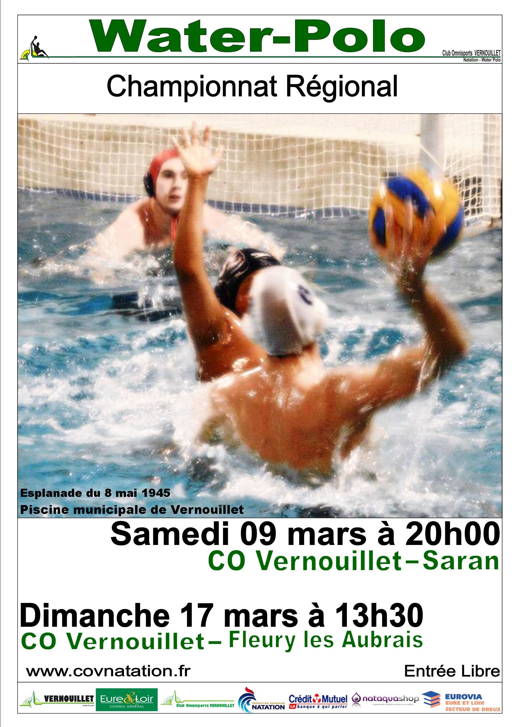 09/03/2013 Water-Polo : Vernouillet - Saran 17/03/2013 Water ... pour Piscine Saran