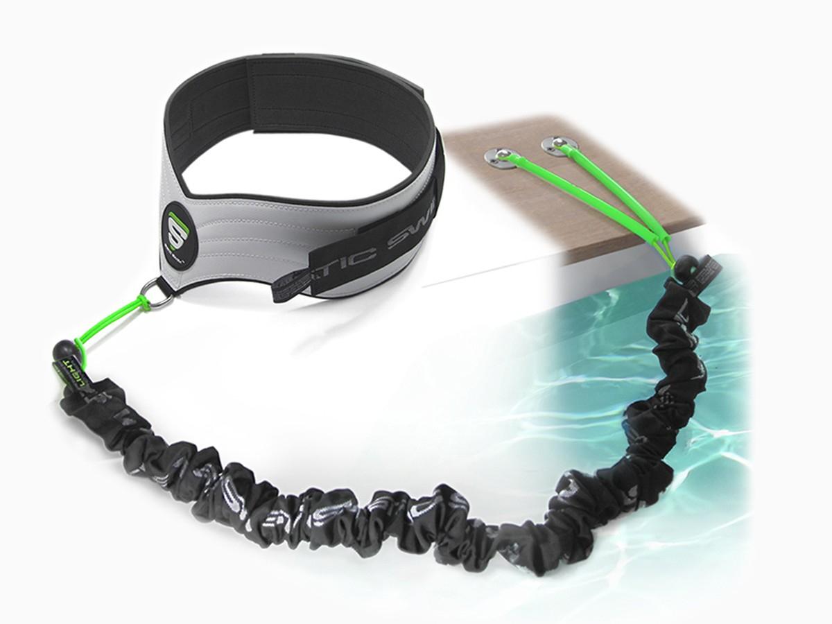 1 Equipamiento Completo Con Fijación Para Playa De Madera Static Swim™ pour Ceinture Piscine