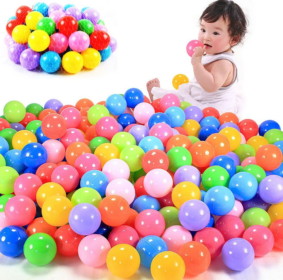 100Pcs 5.5Cm Colorful Ball Soft Plastic Ocean Ball Funny ... tout Piscine A Balle Toysrus