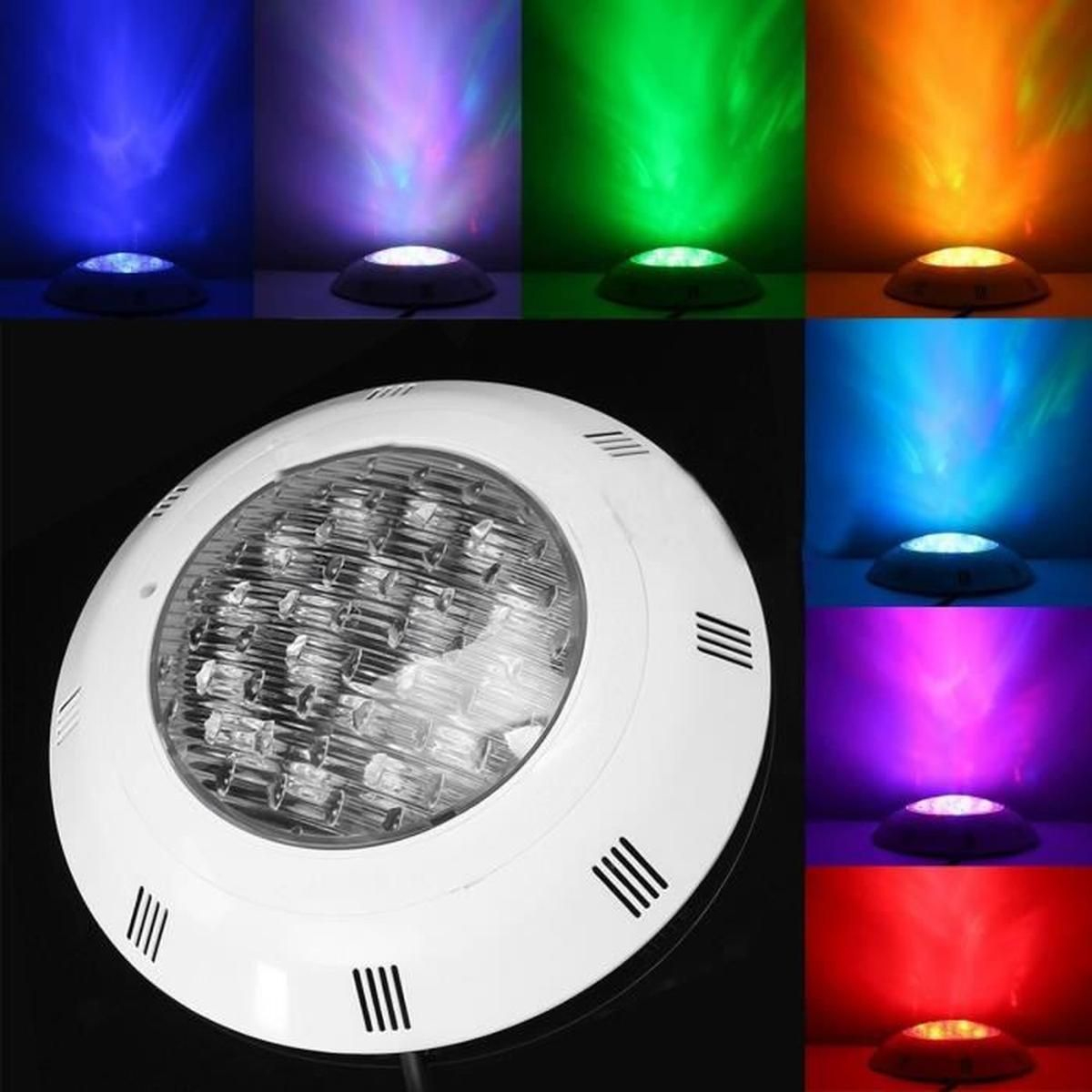 12V 24W Ip68 Piscine Fontaine 7 Colors Led Lumière ... pour Projecteur Led Piscine