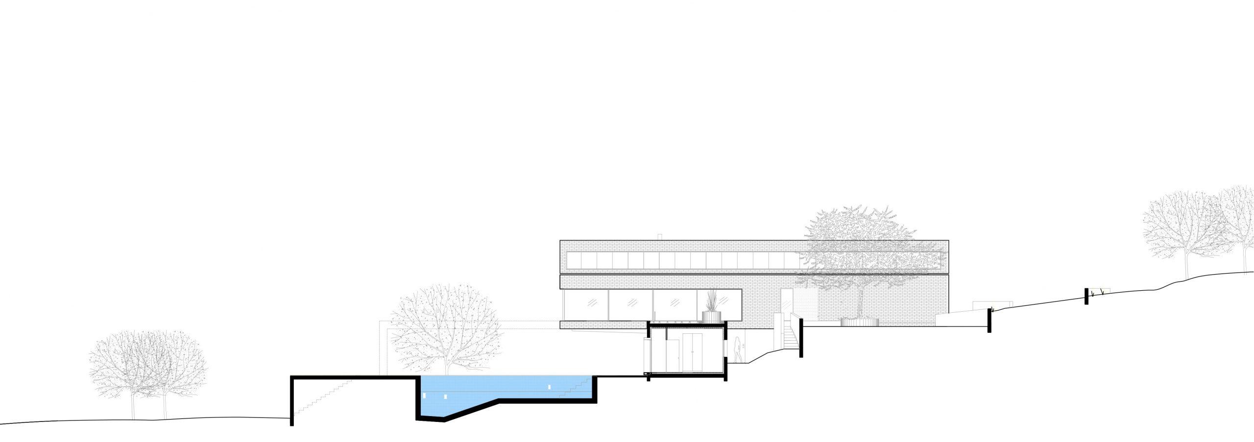 13-Coupe-Construction-Villa-Naxos-Espagne-Piscine-Interieur ... à Plan De Coupe Piscine