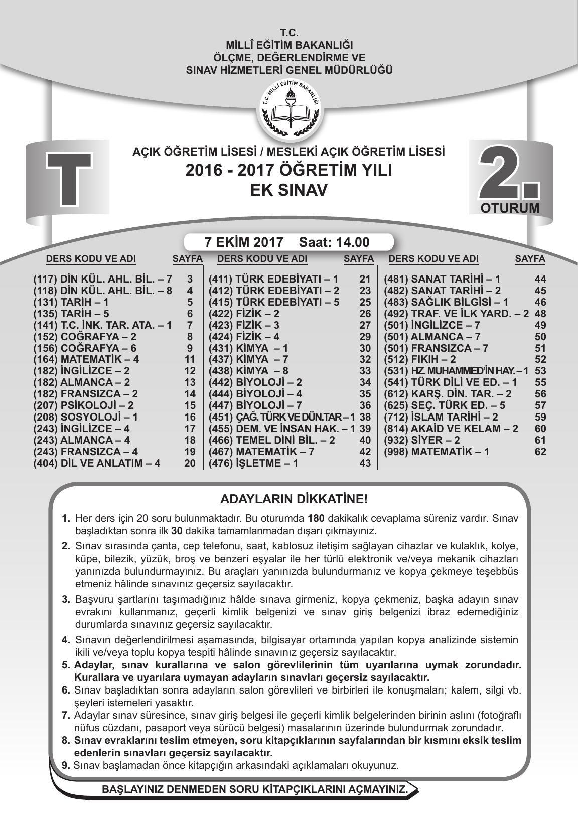 2017 Öğretim Yılı Ek Sınav - Mesleki Açık Öğretim Lisesi concernant Piscine Jean Medecin