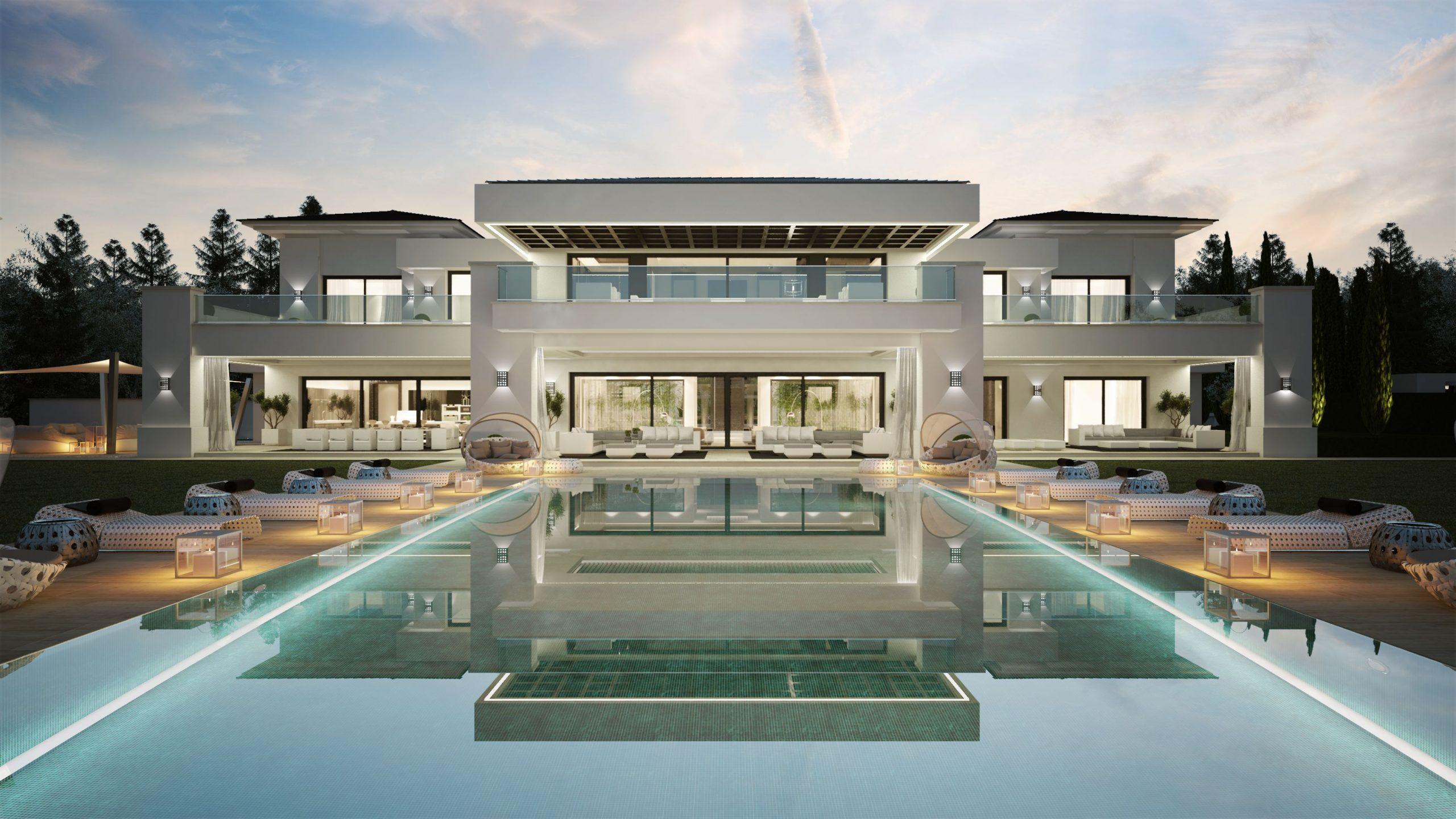 26 Maisons De Rêve Avec Piscine | Maison De Luxe, Plan ... pour Villa En Espagne Avec Piscine