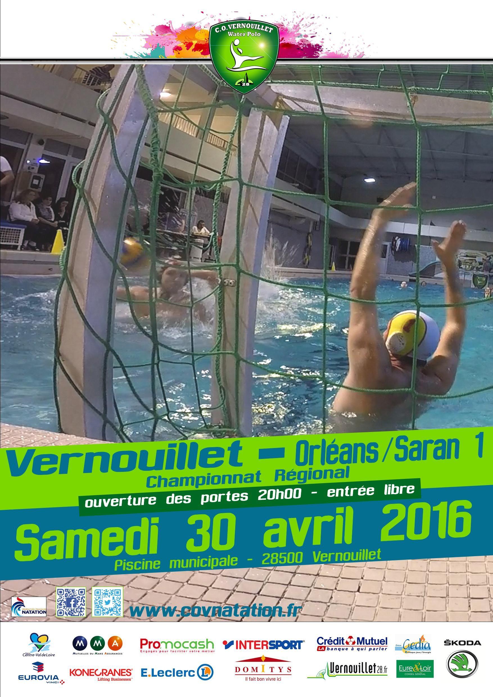 """30/04/2016 Match De """"water-Polo #vernouillet - #orléans ... à Piscine De Vernouillet"""