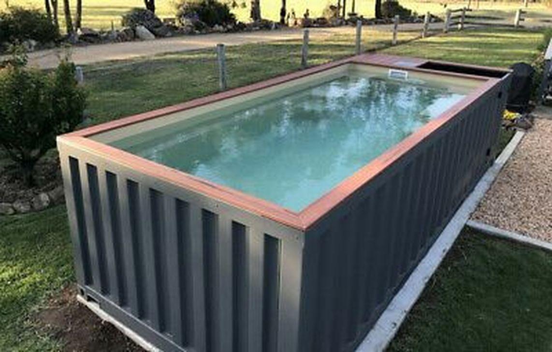 30+ Casual Shipping Container Swiming Pool Design Ideas ... destiné Piscine Conteneur