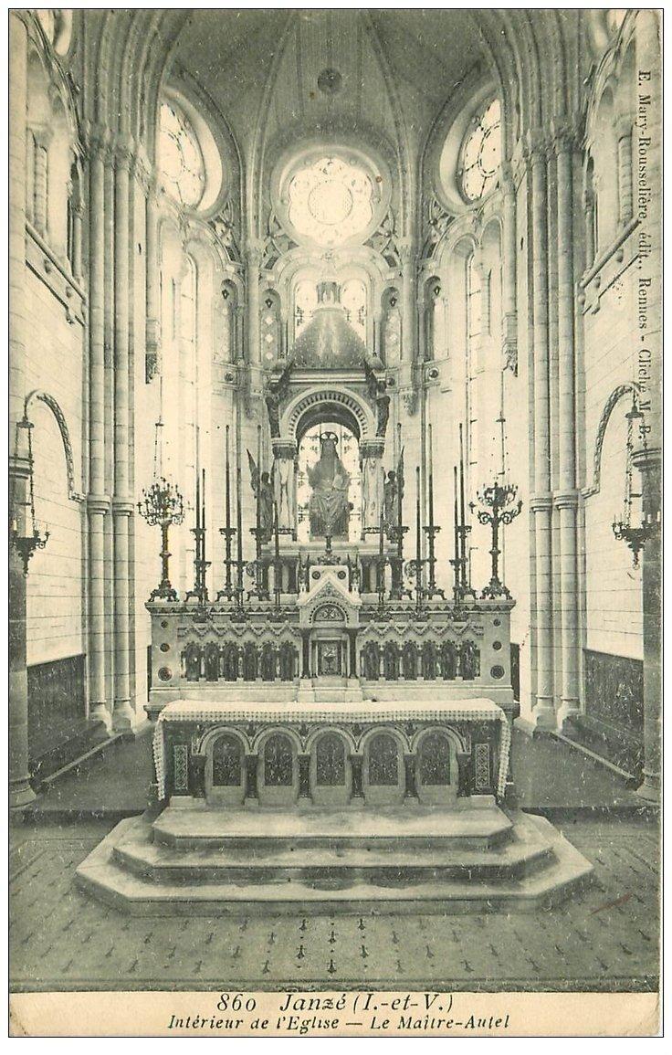 35 Janze. Eglise 1909 Maître-Autel à Piscine Janze