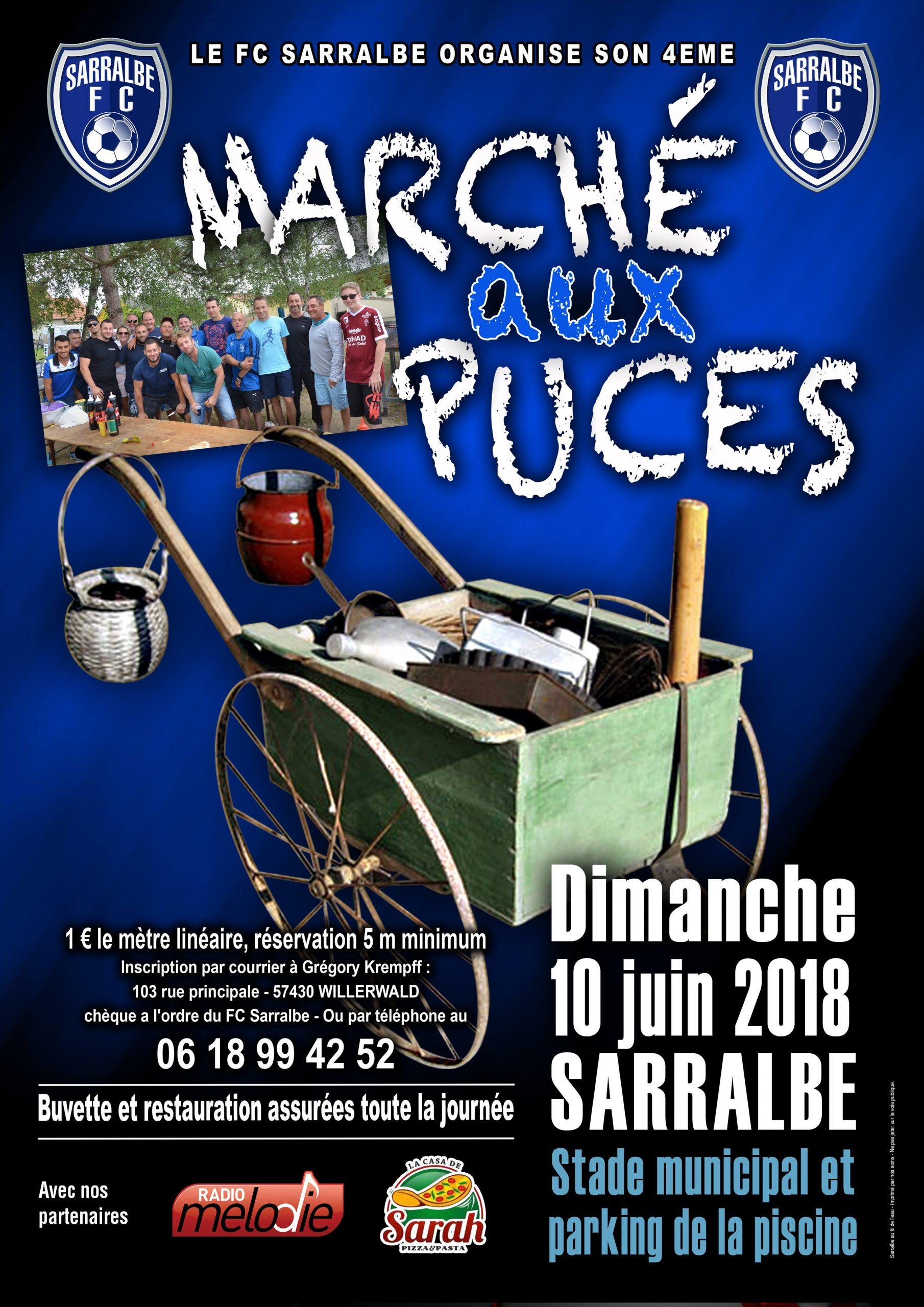 4 Ème Marché Aux Puces Organisé Par Le Fc Sarralbe - Radio ... destiné Piscine Sarralbe
