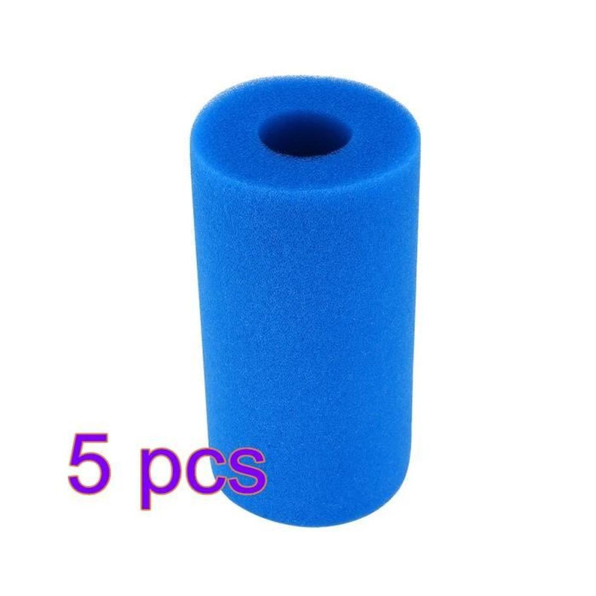 5Pcs Filtre À Eau De Piscine Intex Type A Filtre De Piscine Lavable  Réutilisable Éponge De Cartouche De Mousse serapportantà Pompe Pour Piscine Intex