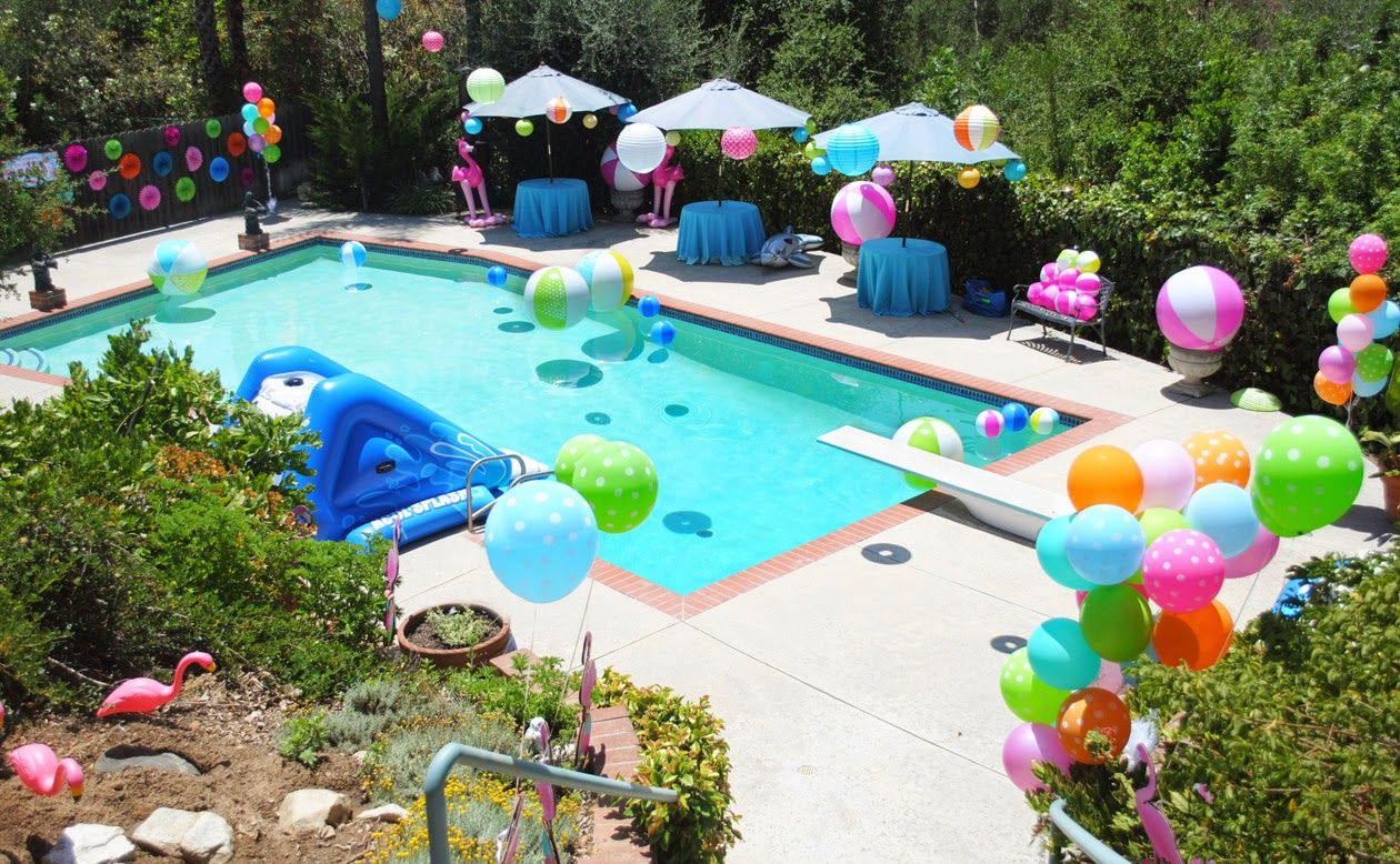75 Best Mermaid Pool Party Images | Mermaid Parties, Mermaid ... intérieur Piscine Saran