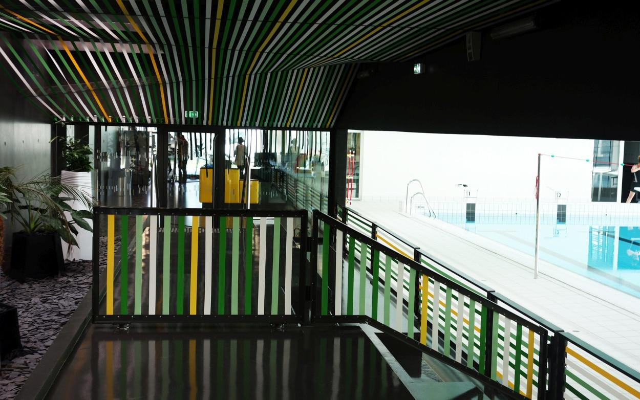 93 - Habillages De Sangles - Centre Aquatique Pays De La ... concernant Piscine Janze