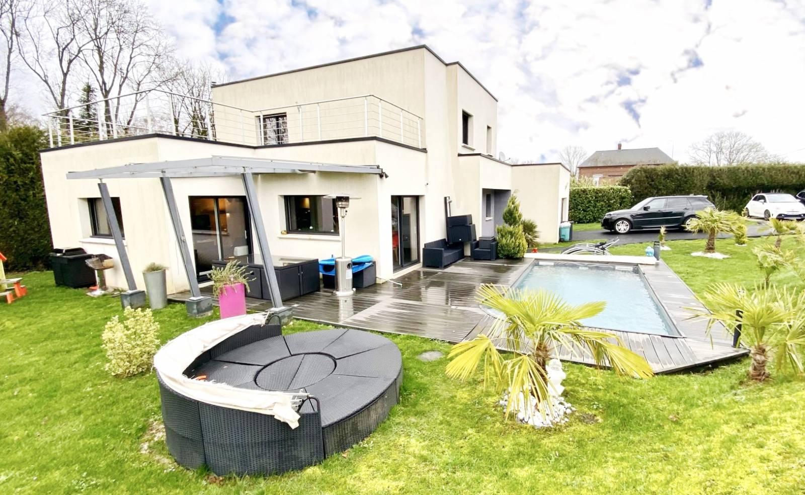 A Vendre En Exclusivité Magnifique Maison D'architecte F8/t8 ... serapportantà Piscine Pavilly