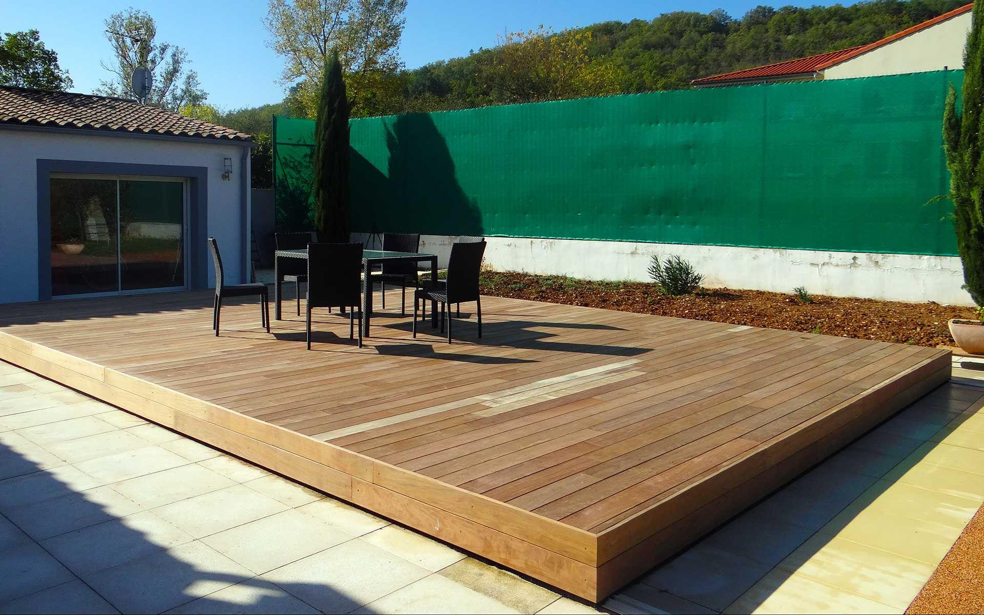 Abri #piscine #terrasse #mobile Terrasse Mobile Pour Piscine ... serapportantà Fabriquer Une Terrasse Mobile Pour Piscine