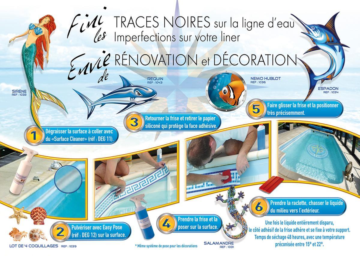 Accessoire Kit Pose Pour Frise Ou Déco 24 Cm-30Ml Piscine tout Frise Piscine