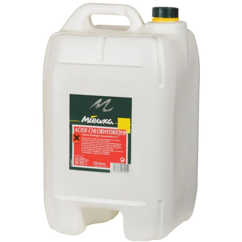 Acide Chlorhydrique 23% 20L serapportantà Acide Chlorhydrique Piscine