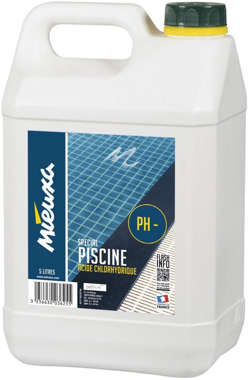 Acide Chlorhydrique Spécial Piscine - Mieuxa - 5L concernant Acide Chlorhydrique Piscine