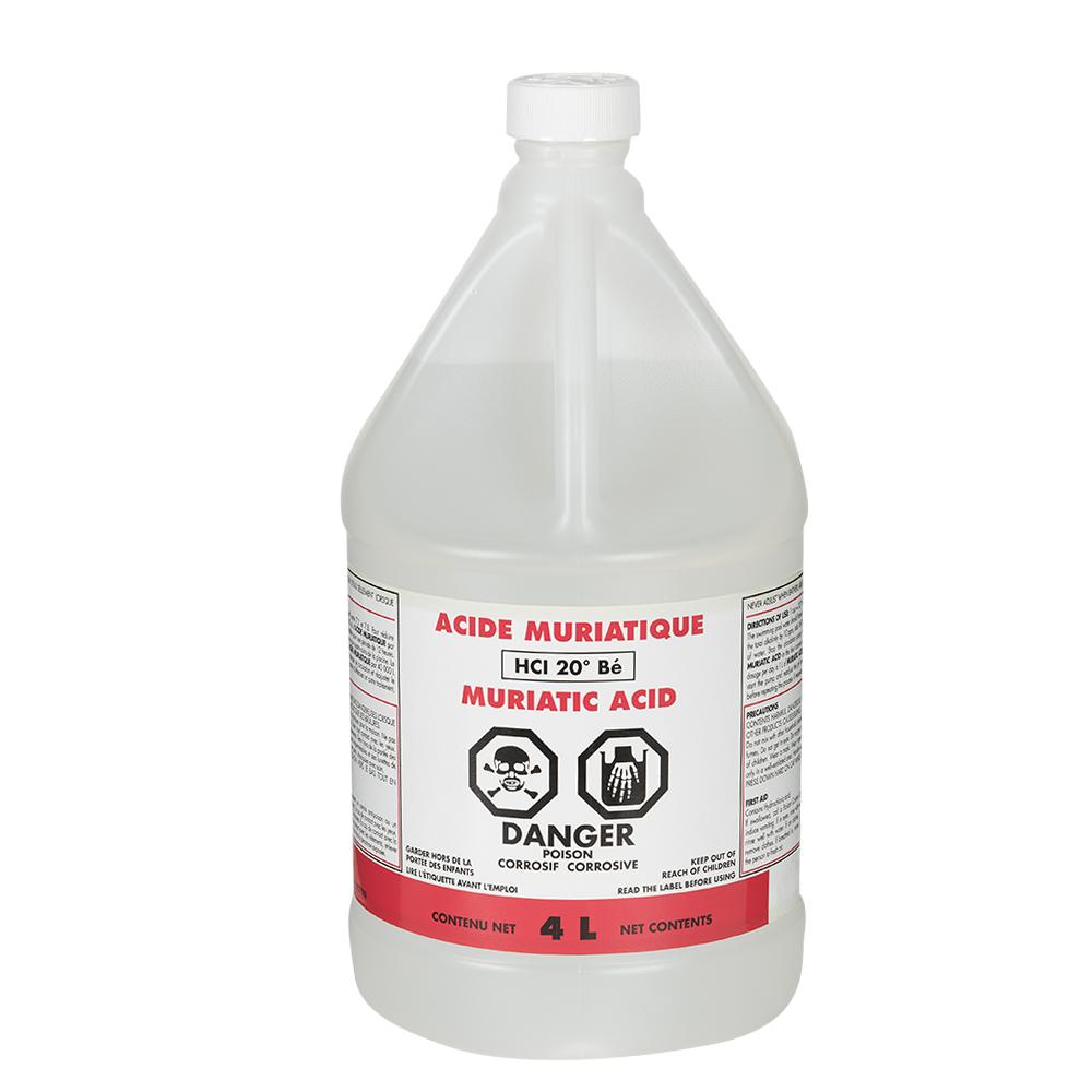 Acide Muriatique (Chlorhydrique) 4 L avec Acide Chlorhydrique Piscine