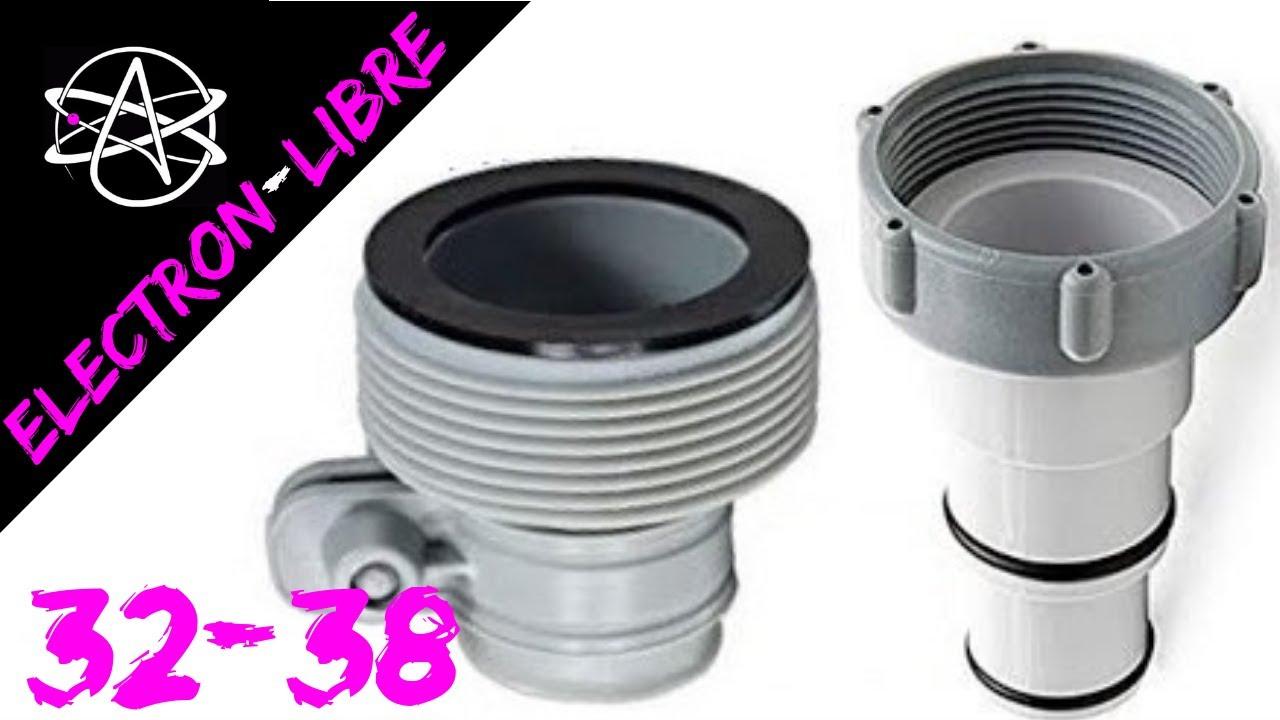 Adaptateurs Intex 32-38 Pour Raccorder Pompe & Piscine concernant Pompe Piscine Intex Leroy Merlin