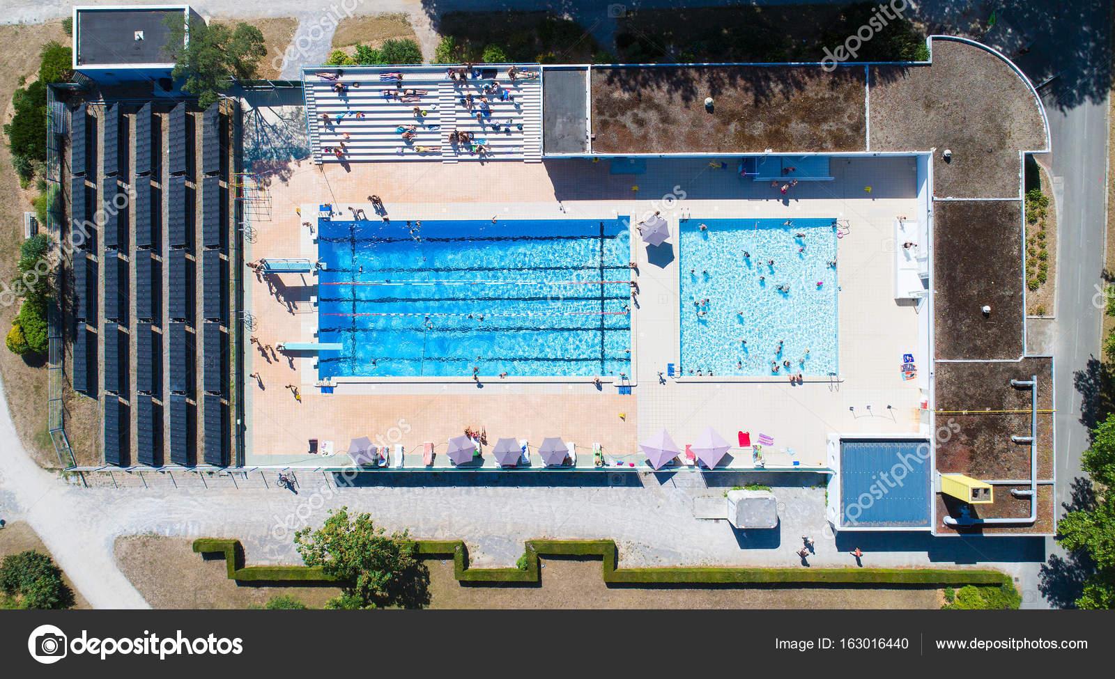 Aerial Photo Of La Charbonniere Public Swimming Pool In ... tout Piscine Ancenis