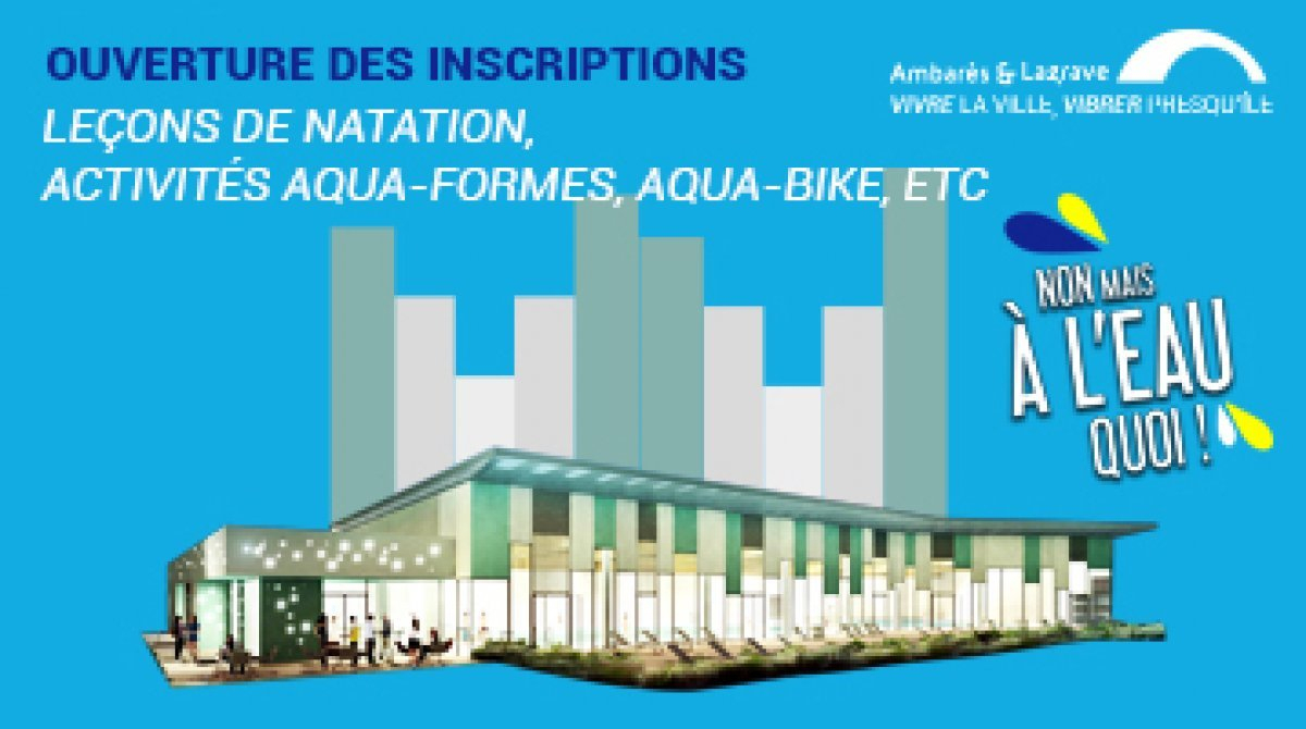 Agenda - Piscine Municipale Alain Bernard - Ouverture Des ... concernant Piscine Ambares
