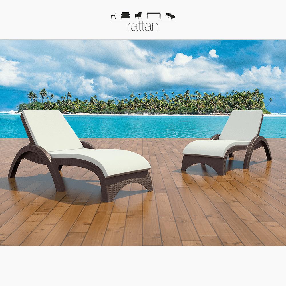 Akbrella Rattan Şezlong Modelleri: 23 | Doğadaki Etkinlikler tout Aloha Piscine