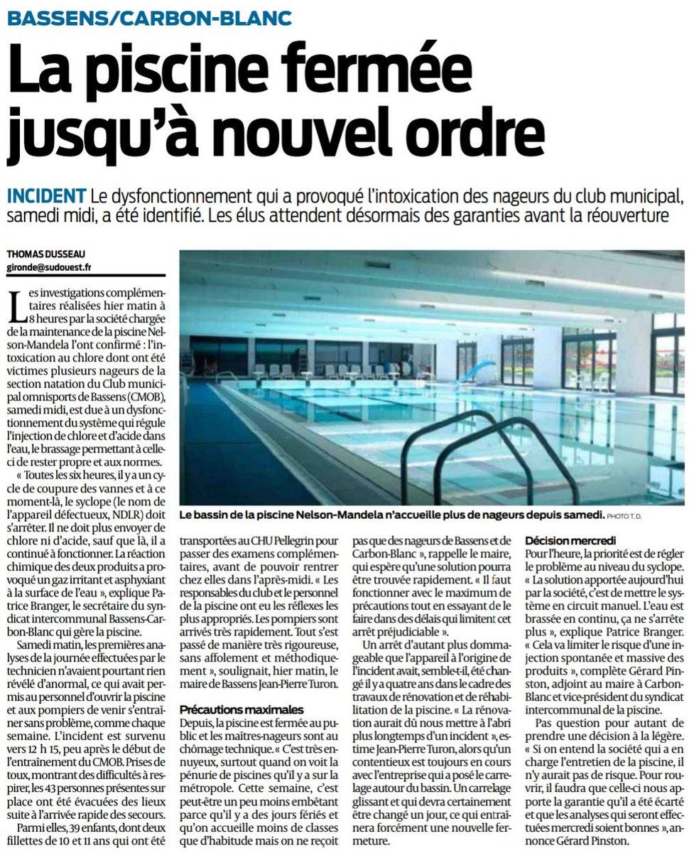 "Alexandre Rubio On Twitter: ""#bassens #carbonblanc #piscine… "" pour Piscine Bassens"