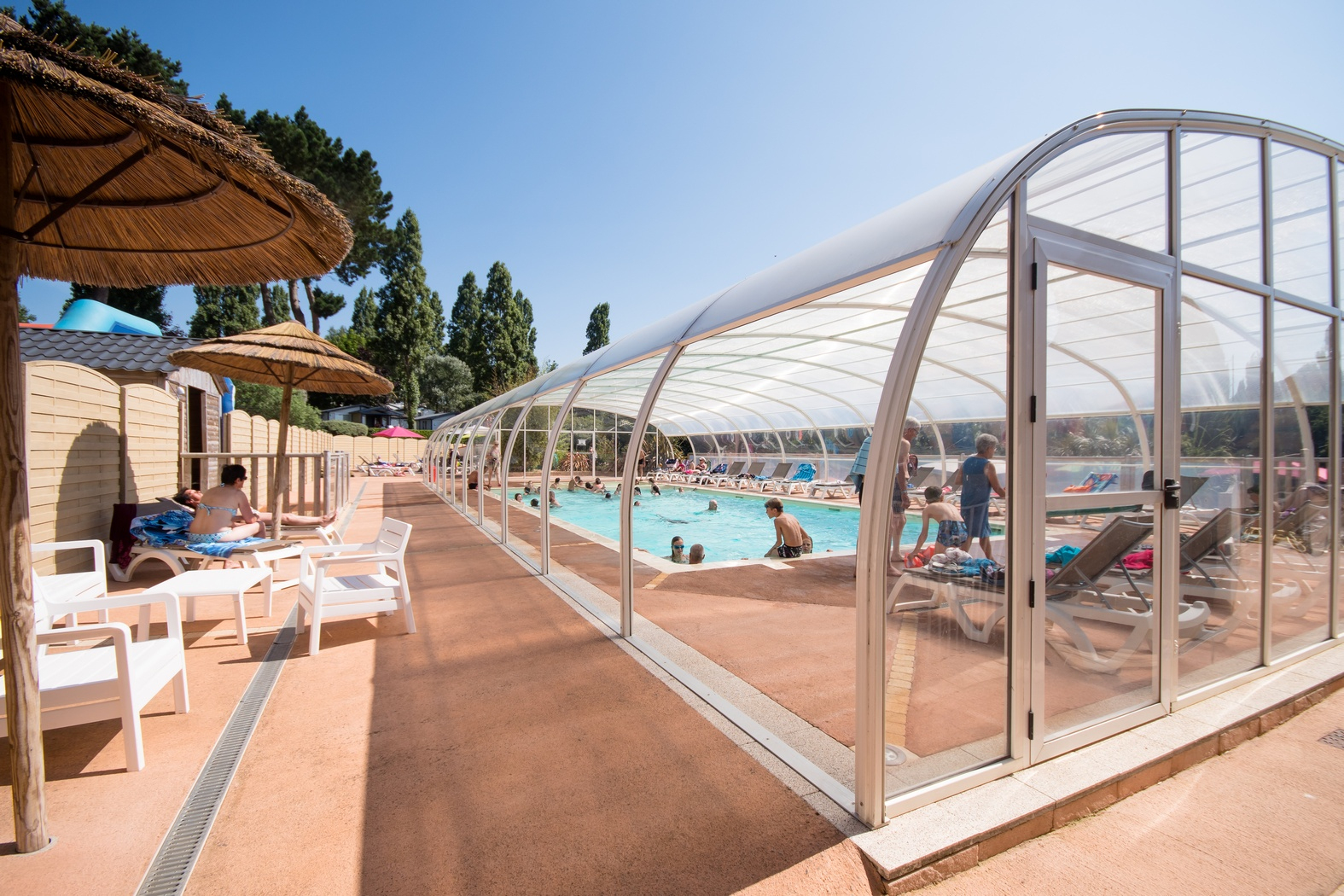 All-Year Heated, Indoor Pool At Le Panoramic Campsite ... pour Piscine Binic