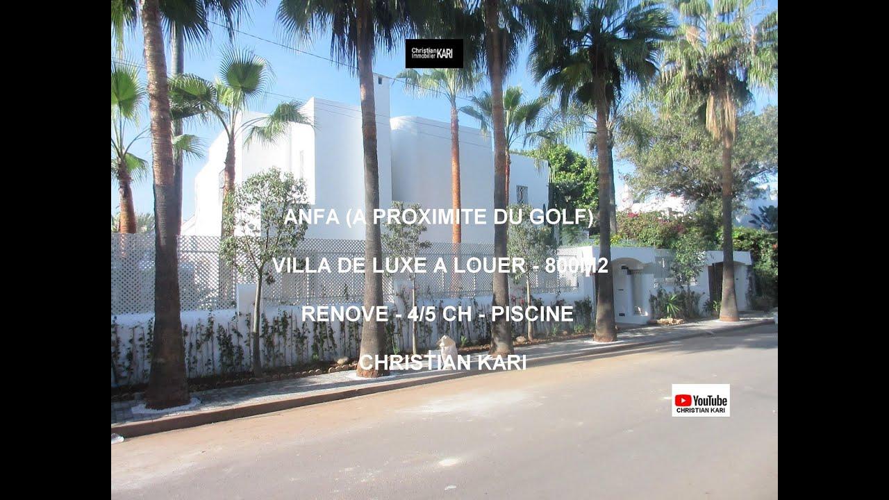 Anfa Proximité Golf Villa À Louer 4/5 Ch Piscine dedans Piscine A Proximité
