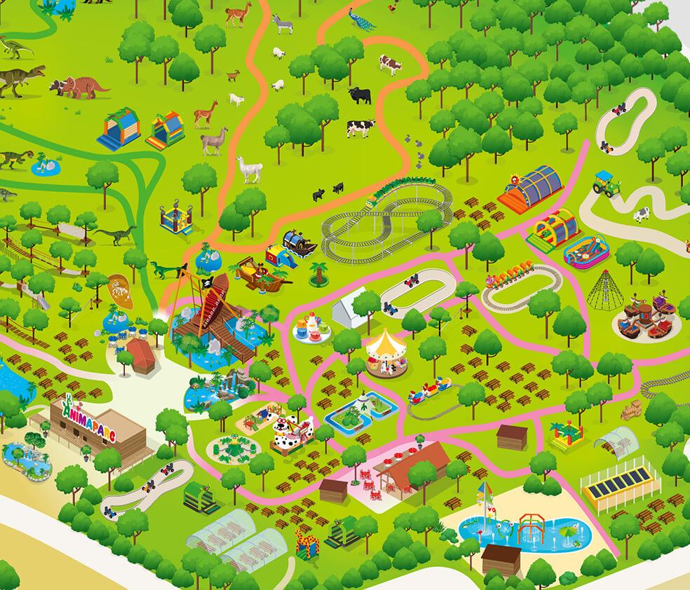 Animaparc, Parc D'attractions, Animalier Et Dinosaures Près ... avec Piscine Colomiers Tarif