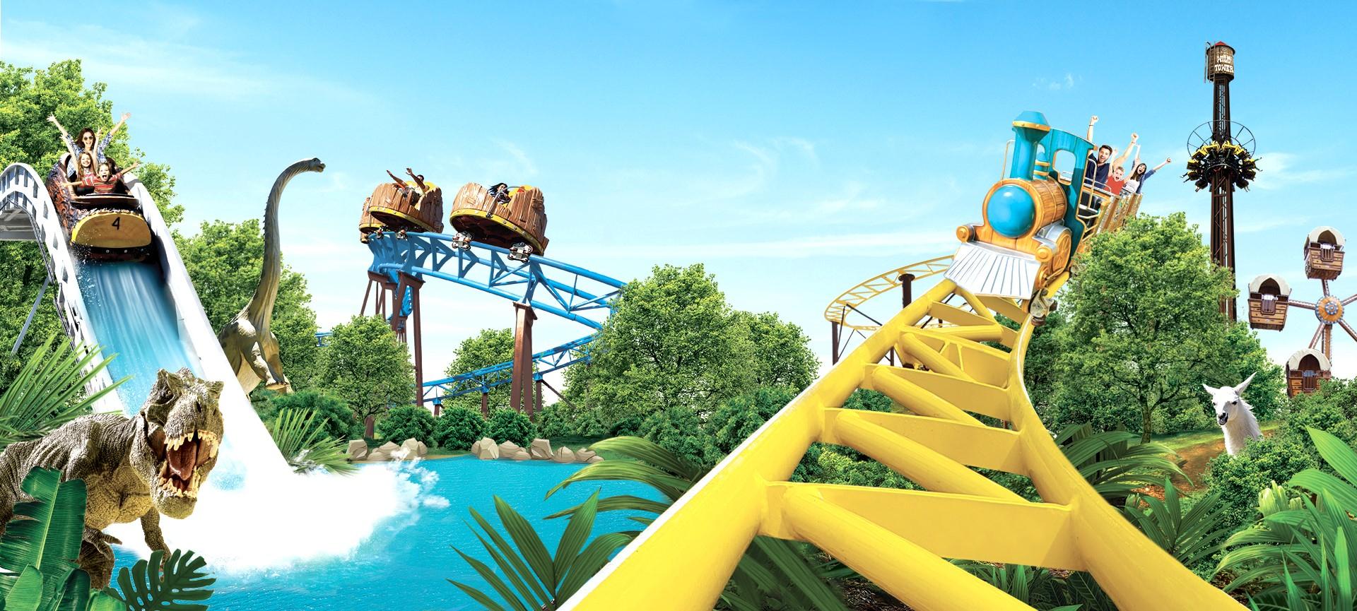 Animaparc, Parc D'attractions, Animalier Et Dinosaures Près ... concernant Piscine Colomiers Tarif