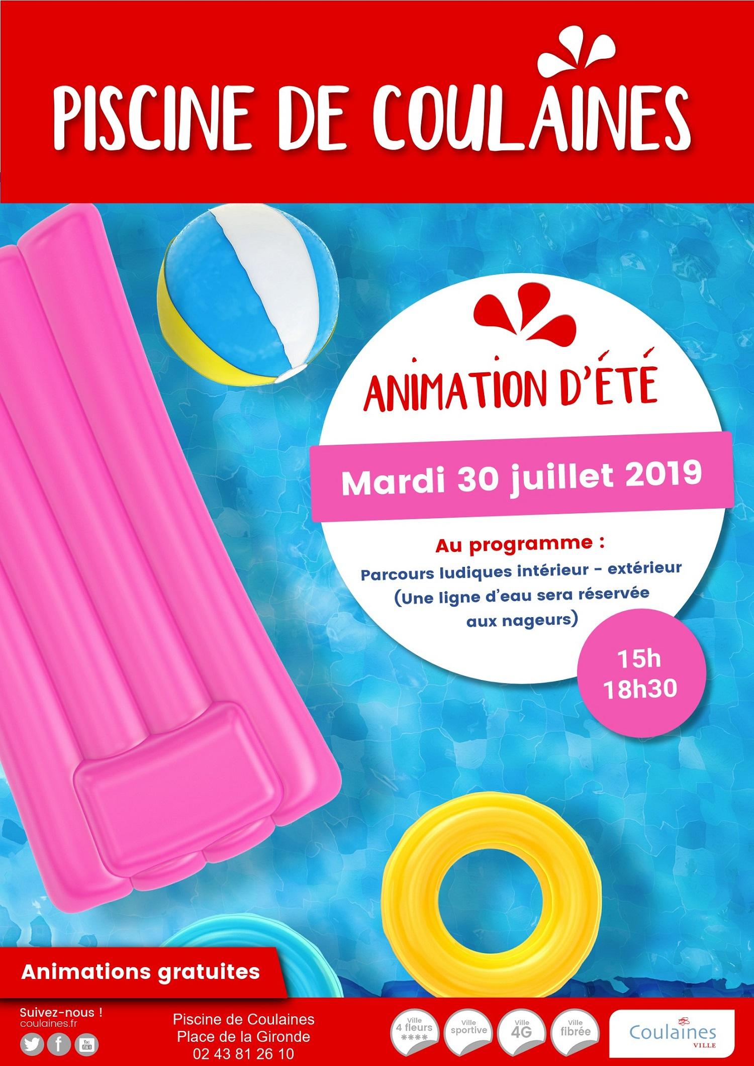 Animation D'été À La Piscine à Piscine De Coulaines