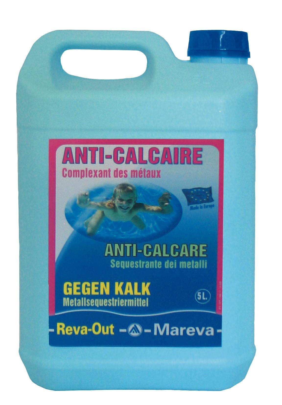 Anti Calcaire Reva-Out Liquide 5L De Mareva À 51Chf tout Anti Calcaire Piscine