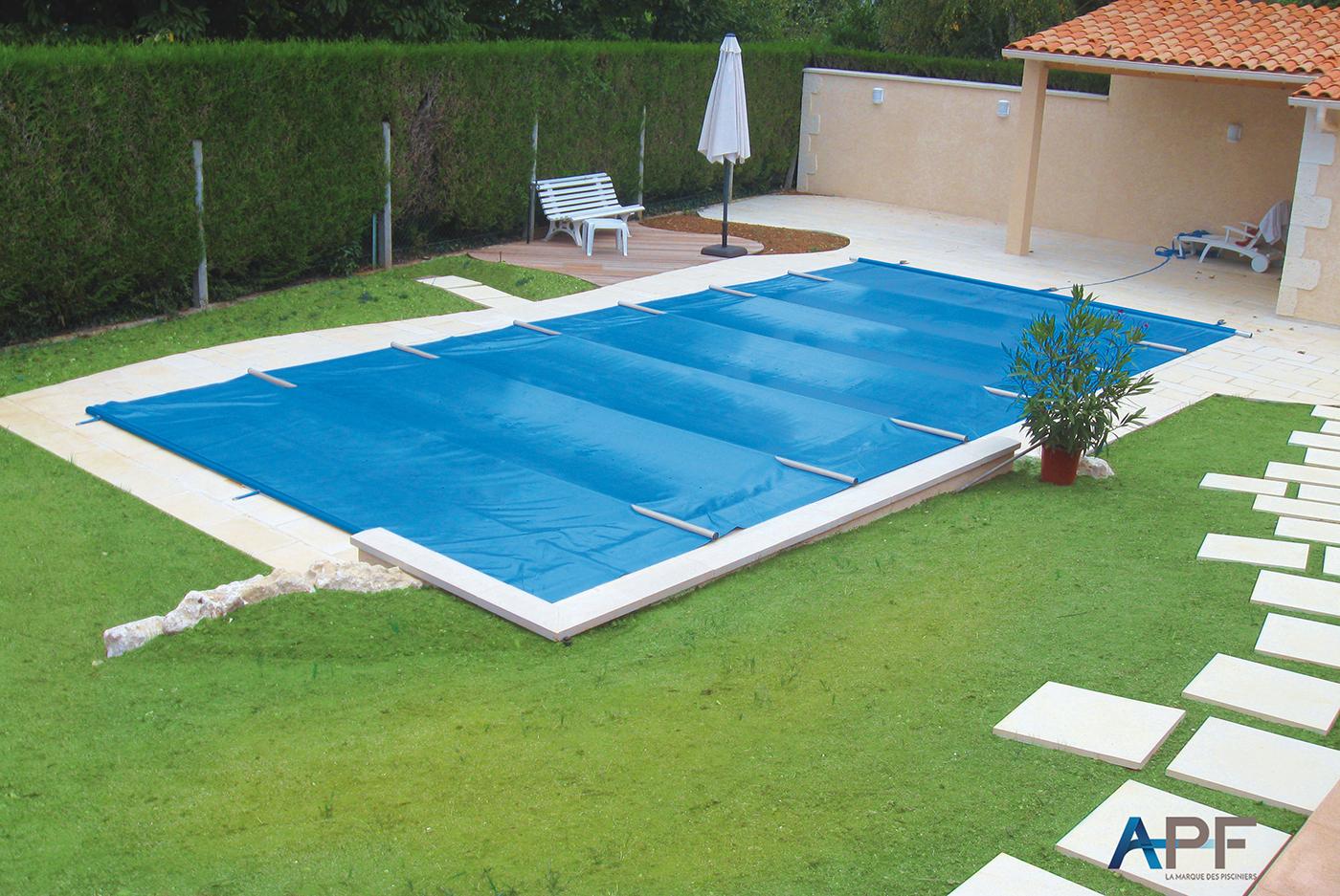 Apf - Nos Modèles De Couvertures À Barres Securit Pool Pour ... à Bache Piscine A Barre