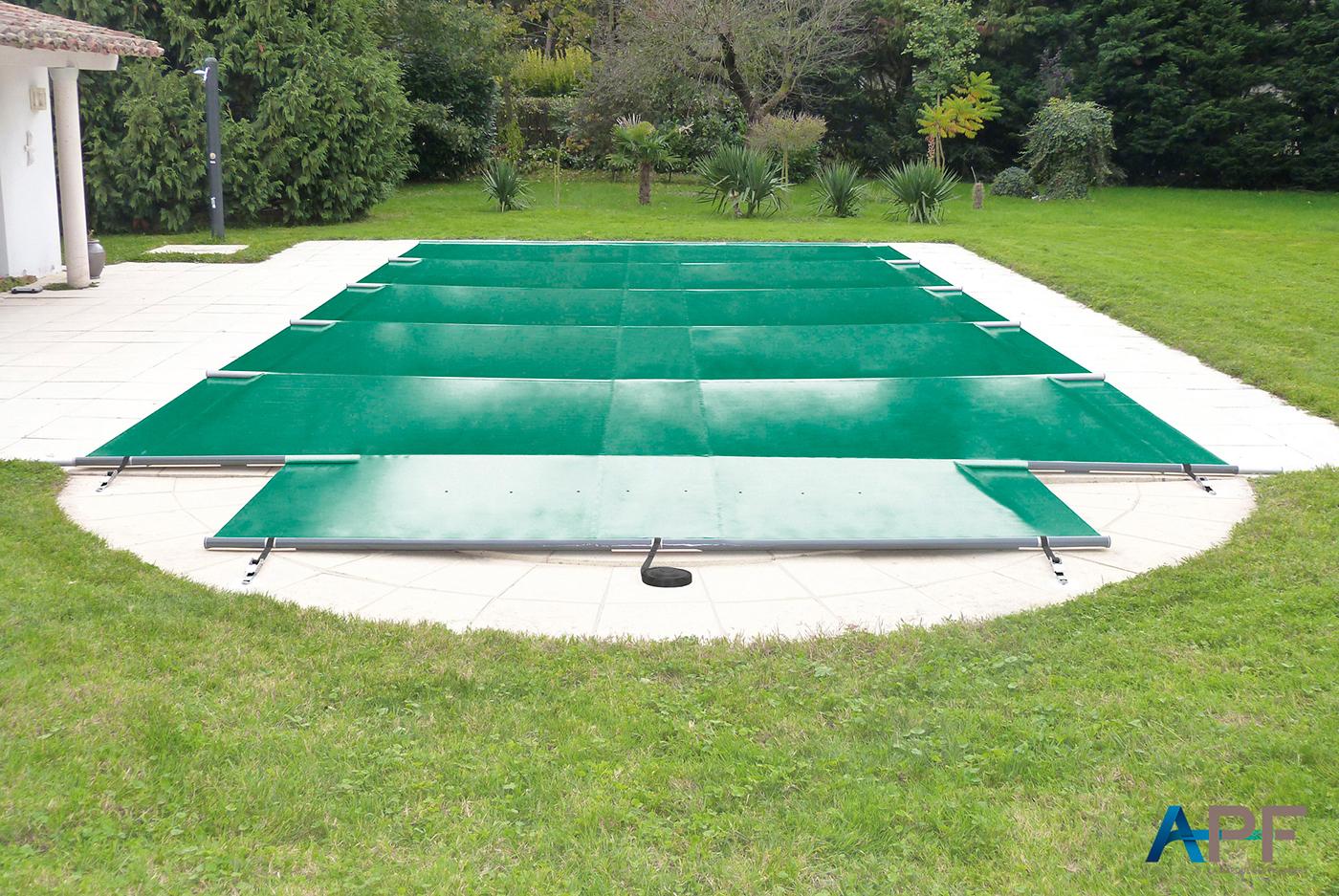 Apf - Nos Modèles De Couvertures À Barres Securit Pool Pour ... avec Bache Piscine A Barre