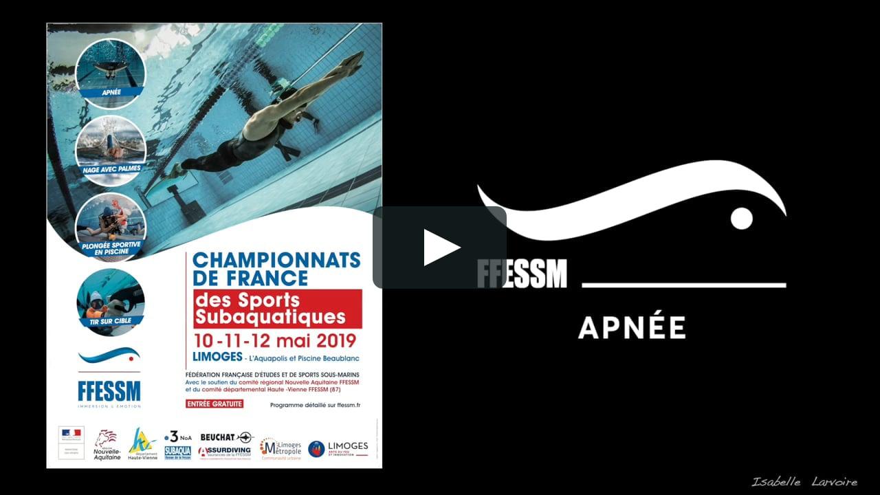 Apnée 16X50 Championnats De France Podium 2019 destiné Piscine Beaublanc