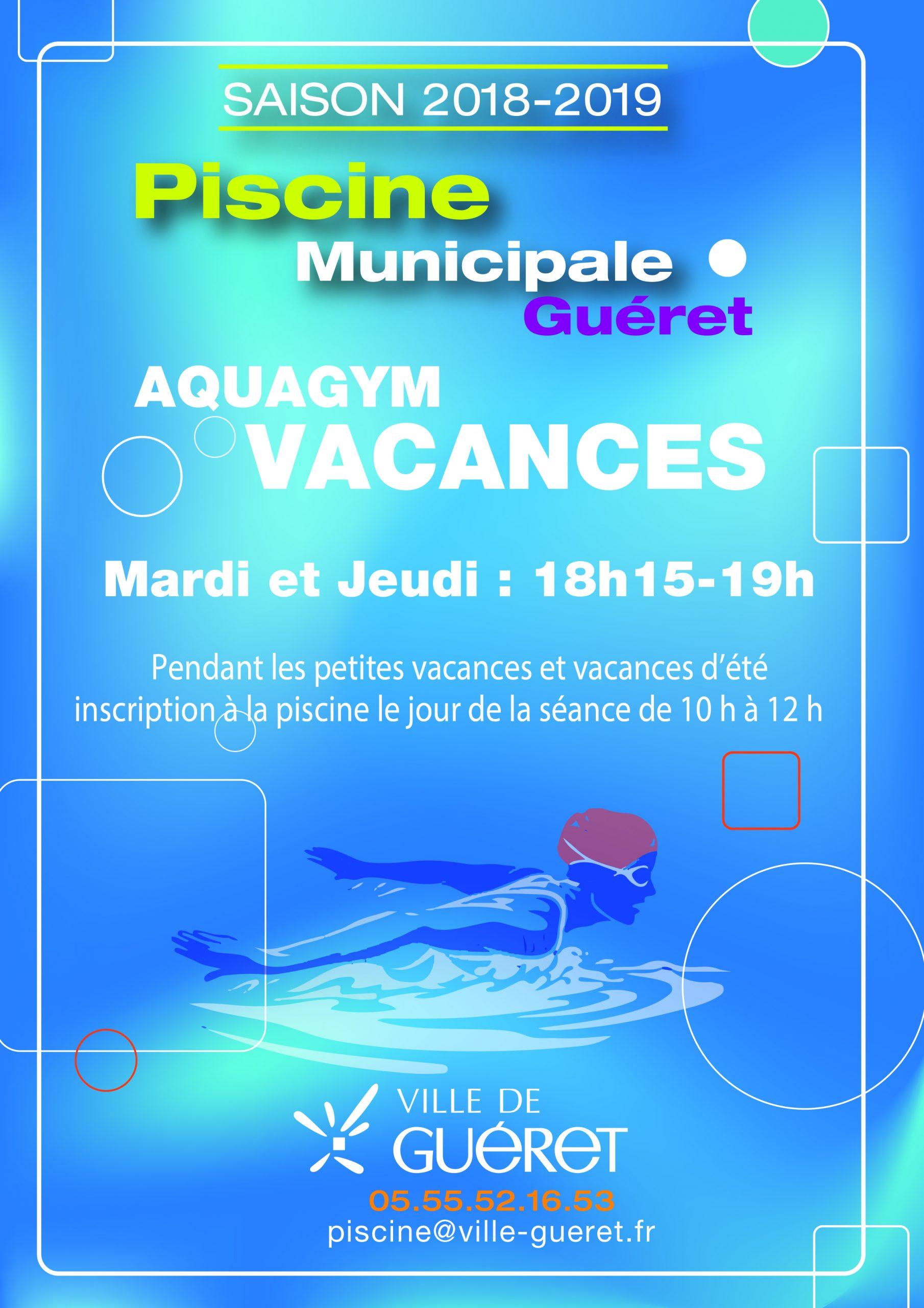 Aquagym Pendant Les Vacances - Ville De Guéret - Site Officiel concernant Piscine De Gueret
