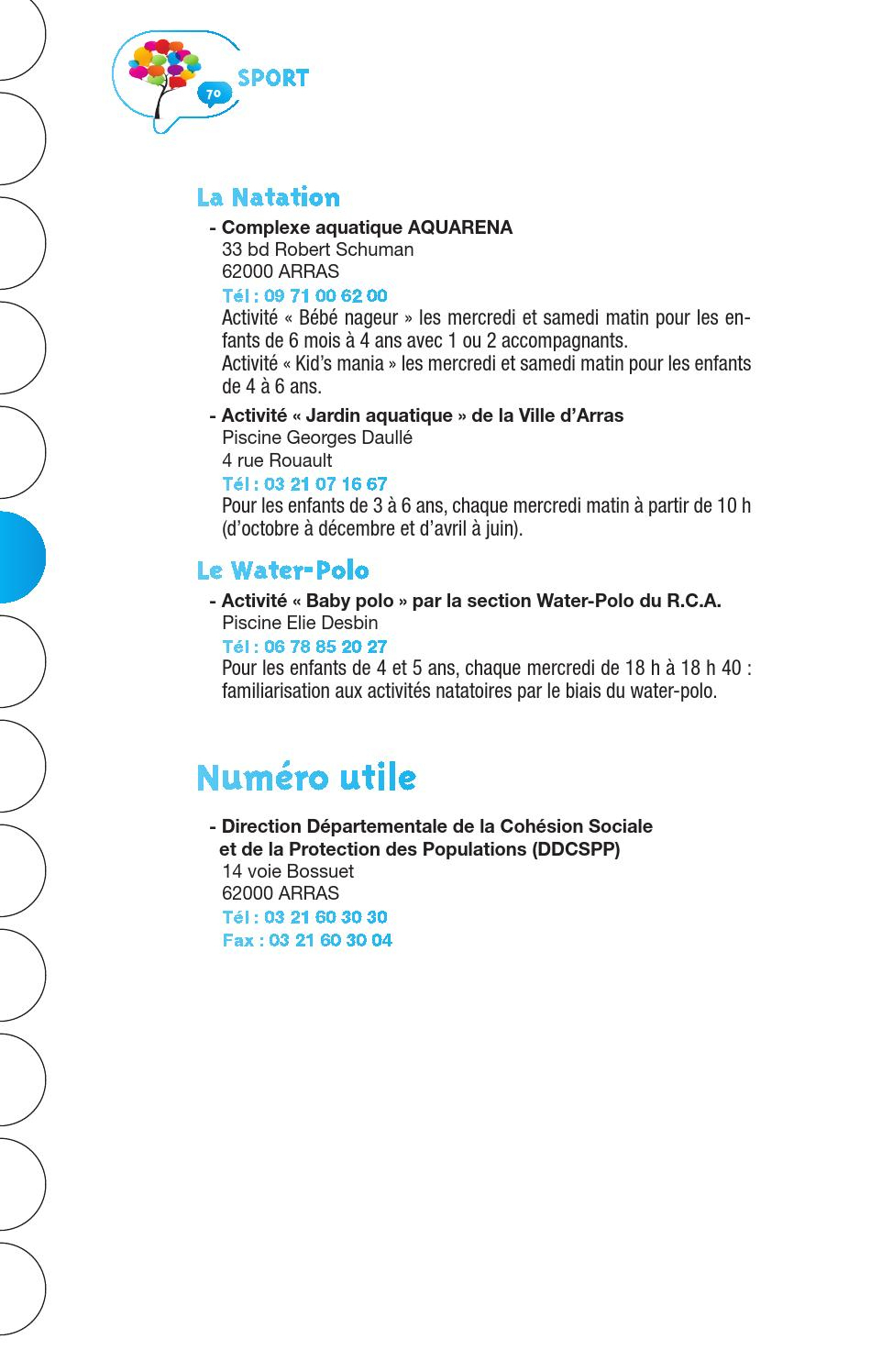 Arras Services 2015 By Mairie D'arras - Issuu pour Piscine Arras Aquarena
