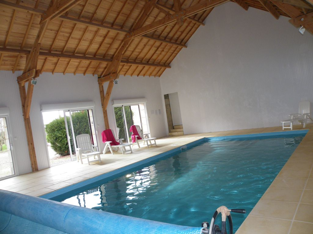 Authentic House - Calm, Calm Assured Along The Heated Pool Covered -  St-Sulpice-Les-Feuilles concernant Piscine Cachan