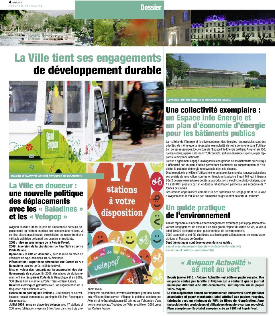Avignon Actualité. La Ville Tient Ses Engagements De ... concernant Piscine Stuart Mill Avignon
