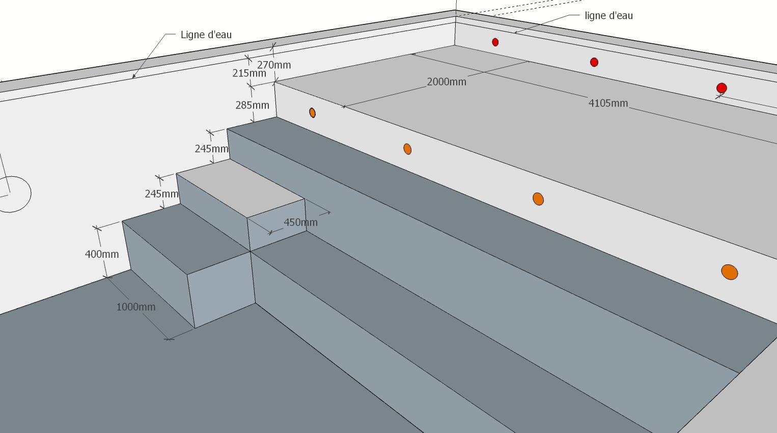 Avis - Conseil Escalier | Piscines Construction serapportantà Escalier Pour Piscine