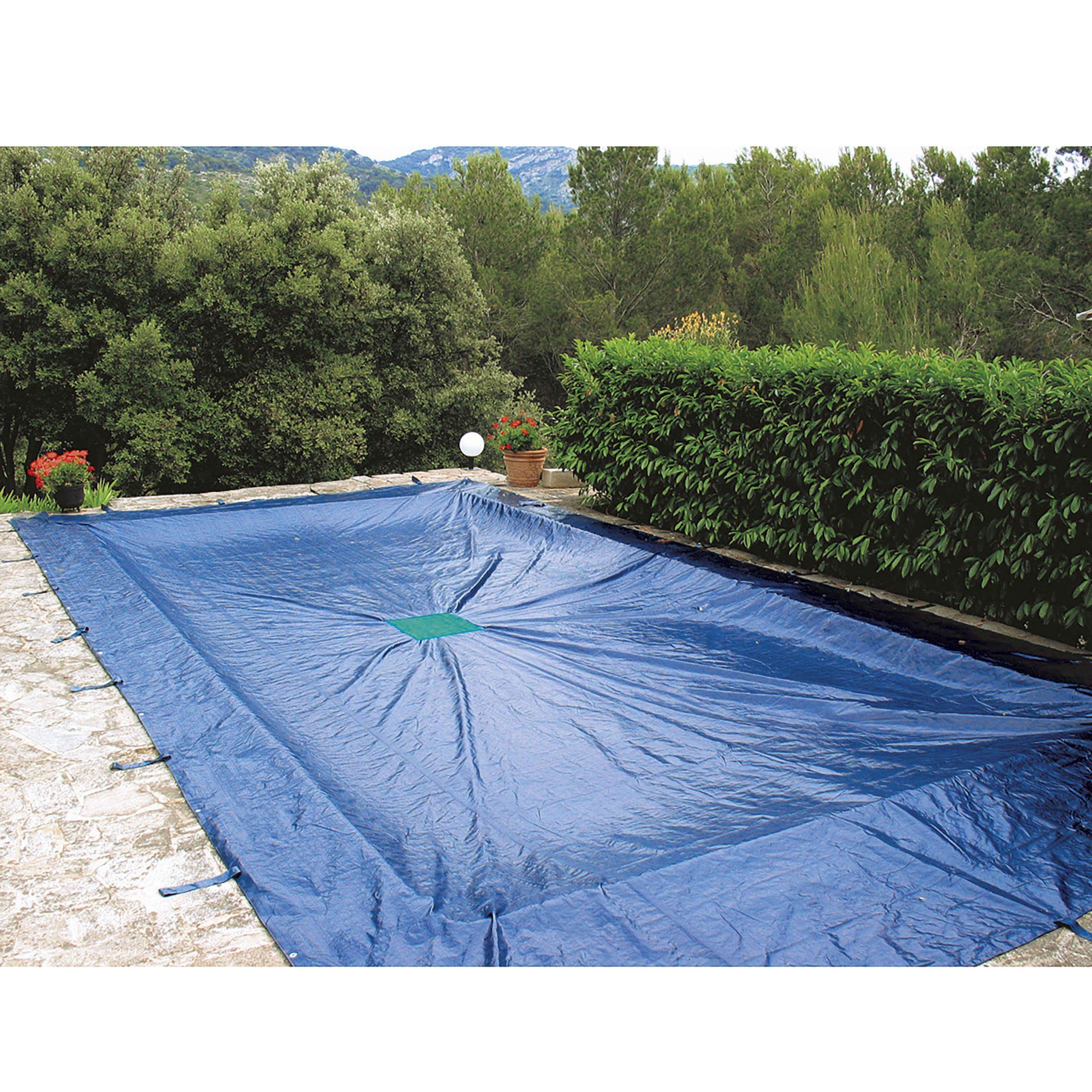 Bâche De Protection 140G/m² Pour Piscine Rectangulaire destiné Bache Sous Piscine