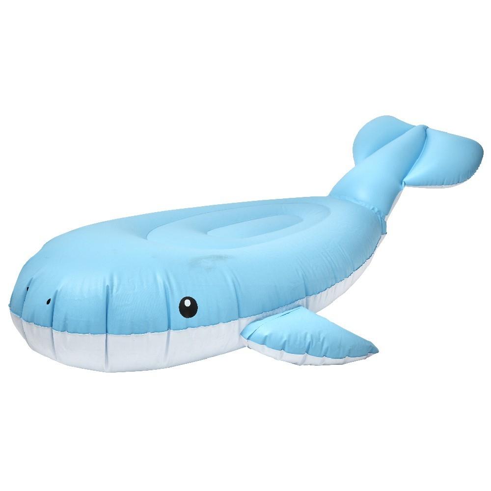 Baleine Gonflable À Chevaucher Bleu Blanc tout Matelas Gonflable Piscine Gifi