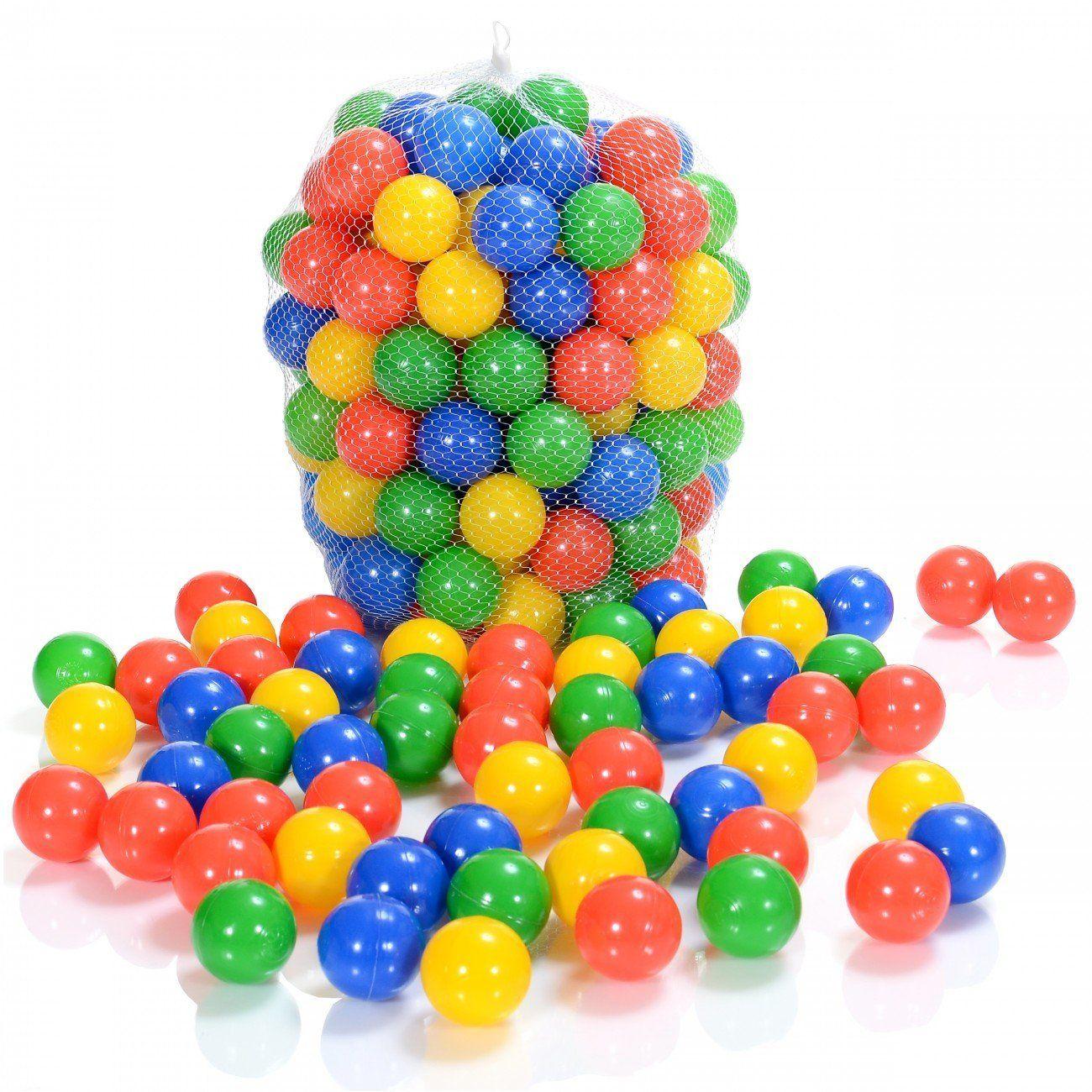 Balles Colorées Plastique De Piscine Enfants Et Bébé - 100 ... concernant Piscine Enfant Pas Cher