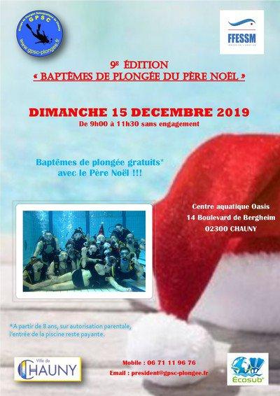 Baptêmes De Plongée Avec Le Père Noël - Chauny - (02300 ... tout Piscine De Chauny