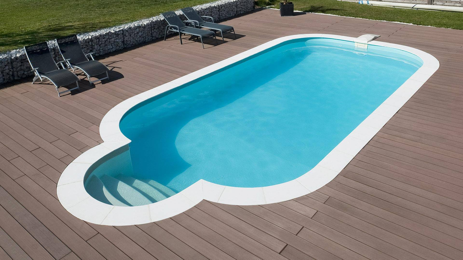 Barbara Rectangular Pool – A Large Design With Rounded Corners destiné Liner Piscine Rectangulaire