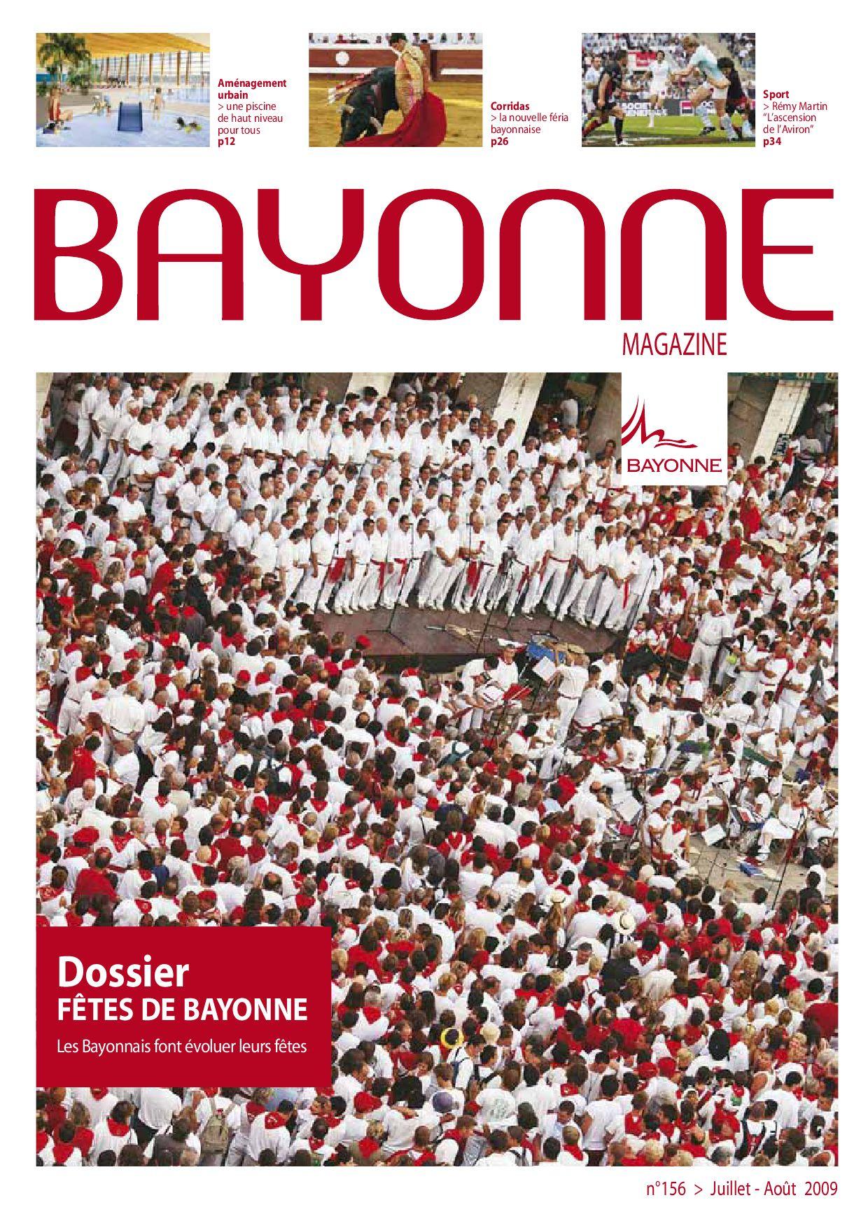 Bayonne Magazine 156 Juillet-Août 2009 By Bayonne - Issuu serapportantà Centre Aquatique Des Hauts De Bayonne Piscine Bayonne