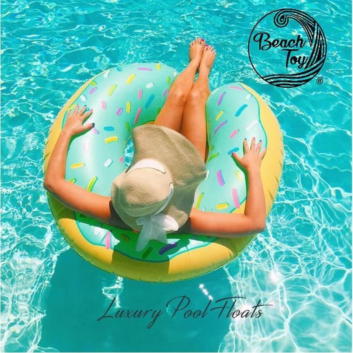 Beach Toy ® - Bouée Gonflable Donut Bleu - Taille Xxl 110Cm ... dedans Bouée Piscine Originale