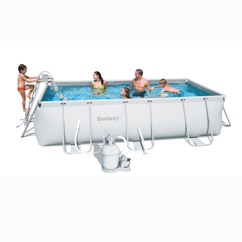 Bestway 56255 - Piscine Tubulaire Rectangulaire 404 X 201 X 100 Cm serapportantà Piscine Tubulaire Rectangulaire 1M22