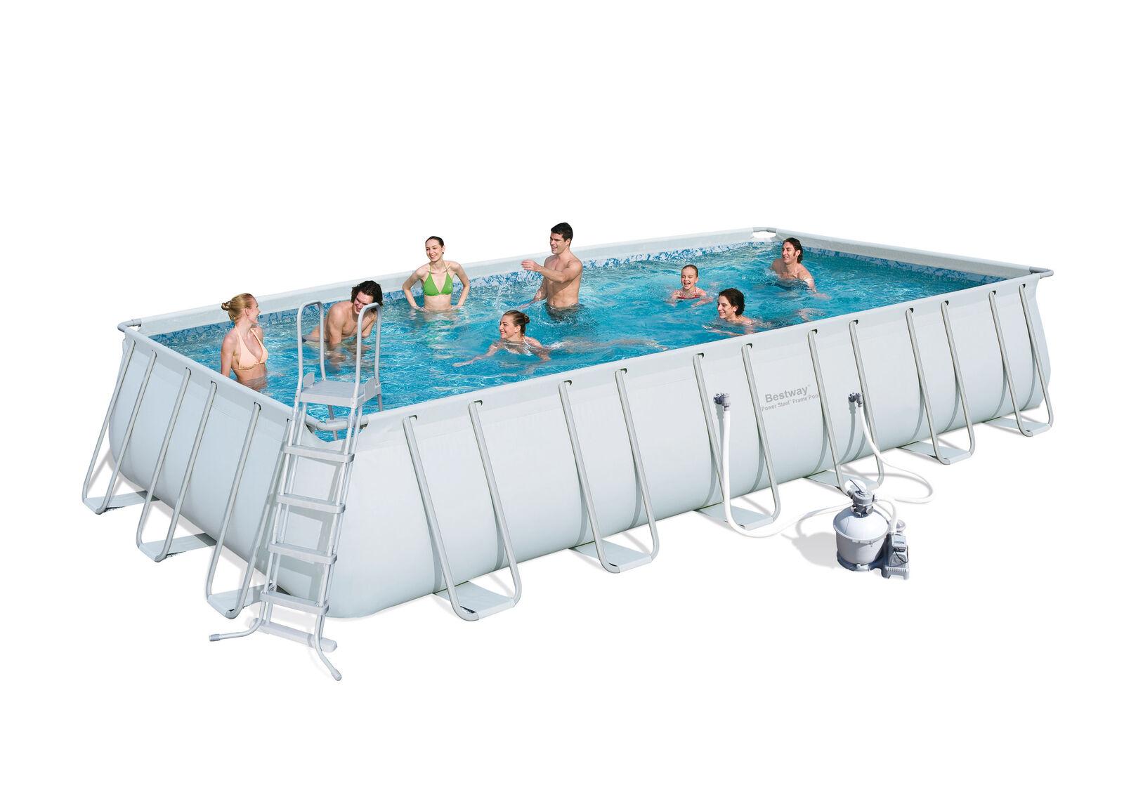 Bestway 56475 Pool Cm 732X366X132H With Frame Pump Filter Ladder 30,045 Lt concernant Piscine Hors Sol Composite