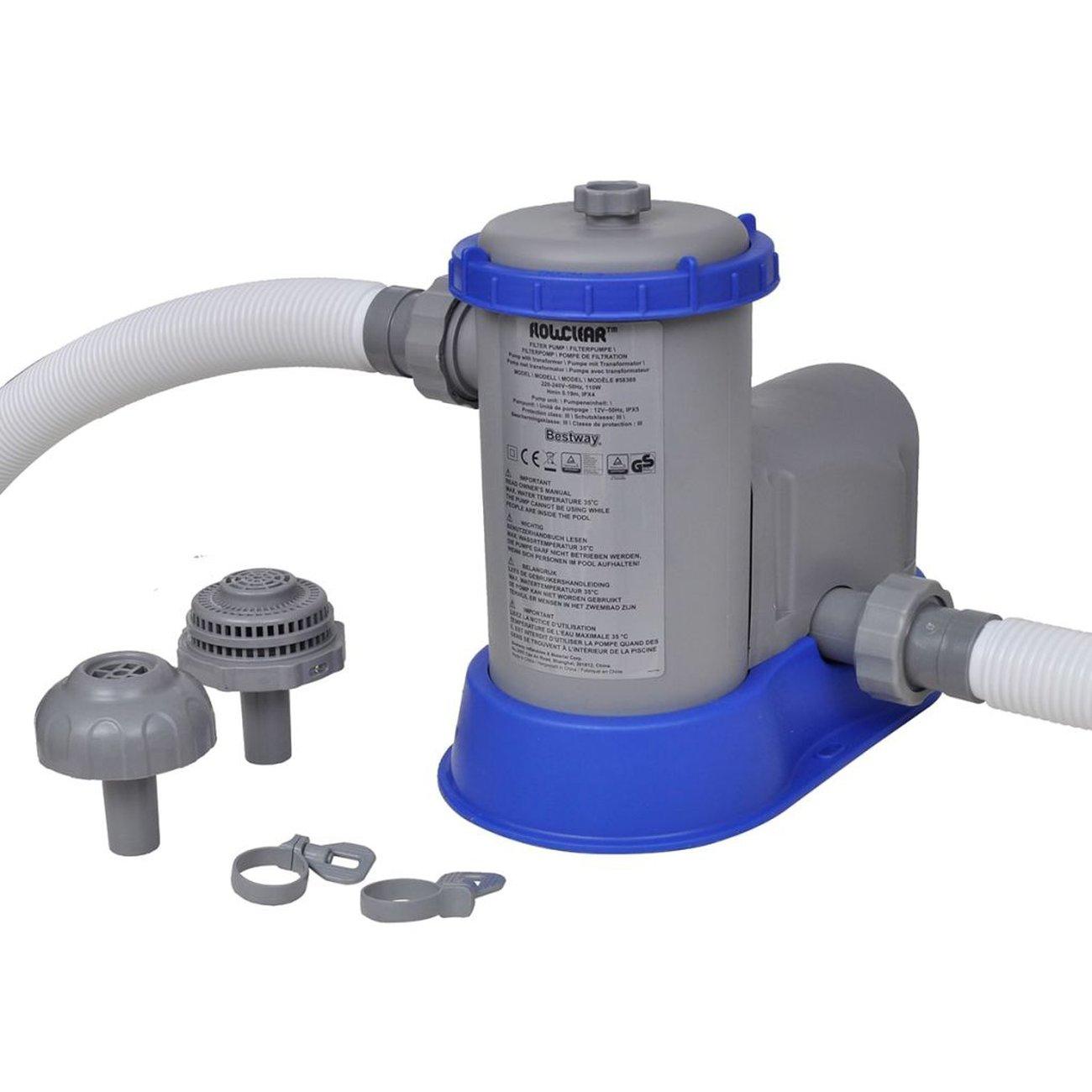 Bestway Bestway Pompe De Filtration Pour Piscine Flowclear 1500 Gal / H  58389 à Pompe Piscine Bestway