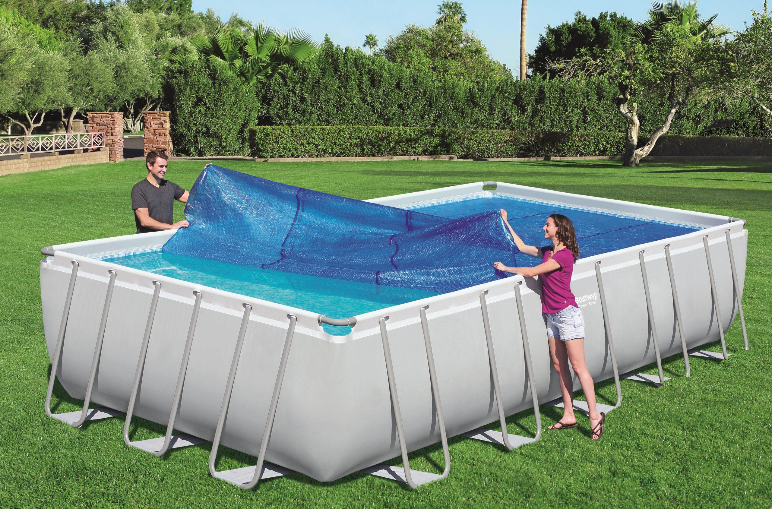 Bestway Bubble Cover For Tubular Rectangular Pools avec Bache Piscine Bestway